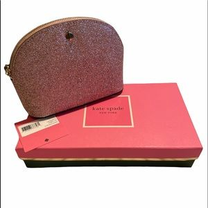 KATE SPADE NEW YORK WOMEN'S BURGESS COURT SMALL DOME COSMETIC CASE